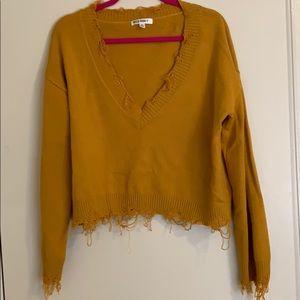 Wild Honey crop Sweater